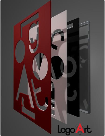 B3D-Studio: LogoArt, 3D Logo, Firmenlogo, Wandobjekt, 3D Wanddekoration, Logo Eyecatcher