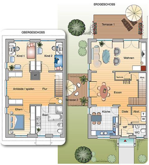 3d visualisierung 3d cad 3d grafik immobilienprospekt for Mehrfamilienhaus grundriss beispiele