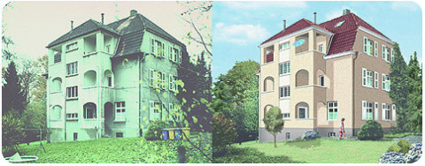 B3D-Studio: Fotoretusche Objektdarstellung, Immobilien Marketing, Architektur Präsentation