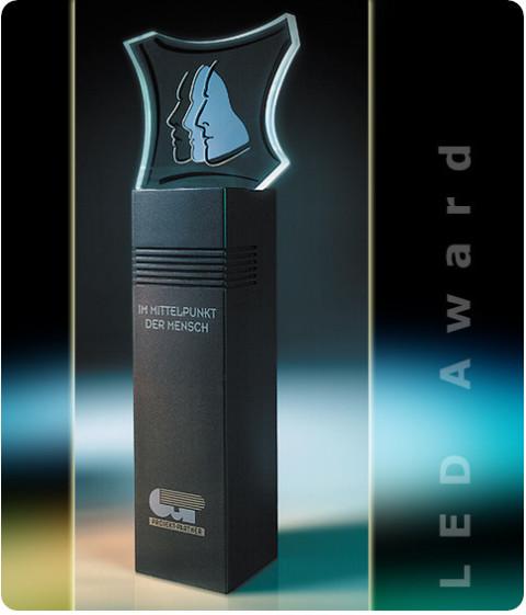 B3D-Studio: 3D Award, leuchtender Award, Giveaway, Award, Auszeichnung, LED Award, Pokal