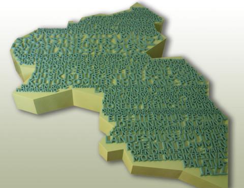 3D Text aus PE Weichschaum