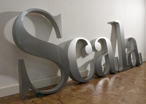 3D Text als XPS Sandwich mit Plexiglas Front