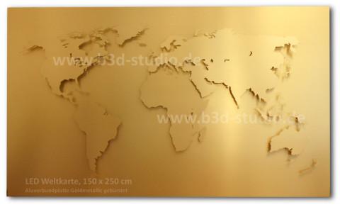 B3D-Studio: 3D Weltkarte, LED Weltkarte, 3D Europakarte, 3D regional Karte, Weltkarte aus Metall, Weltkarte aus Kunststoff, Weltkarte aus Acrylglas, Wandkarte aus Plexiglas