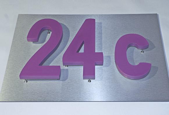 B3D-Studio: PVC- Hartschaum Hausnummer, LED Hausnummer