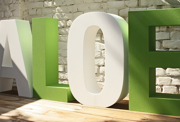 B3D-Studio, 3D Buchstaben, Styroporbuchstaben, EPS Hartschaum Buchstaben, Styropor Buchstaben, XXL Buchstaben