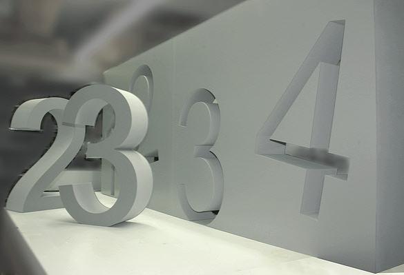 3D Buchstaben, Styroporbuchstaben, Buchstaben mit Front aus PVC