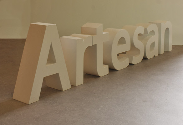 B3D-Studio, 3D Styrodurbuchstaben, 3D Logo, Hartschaumbuchstaben, lackierte Buchstaben