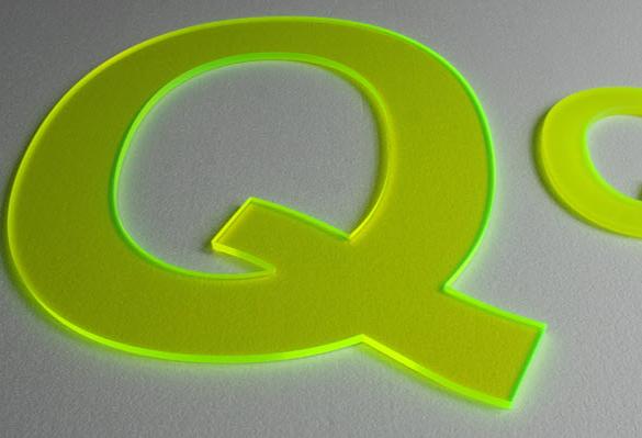 B3D-Studio, 3D Buchstaben, 3D Logo, Acrylglasbuchstaben, Plexiglas Buchstaben, Plastikbuchstaben, Flourescent Acrylglas