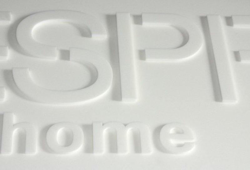3D Logo aus PE Weichschaum