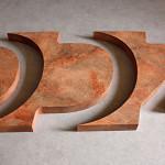 Styrodur Logo mit Rosteffekt Look