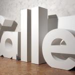 Styropor 3D Buchstaben