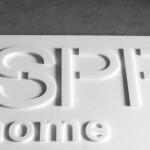 3D Buchstaben aus PE Weichschaum