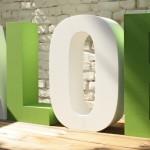 3D Buchstaben aus beschichtetem EPS- Hartschaum (Styropor)