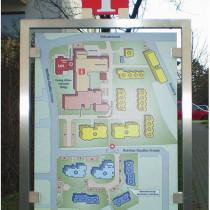 Informationstafel, Außenanlage