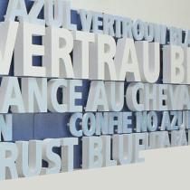 3D Buchstaben aus foliertem PVC-Hartschaum