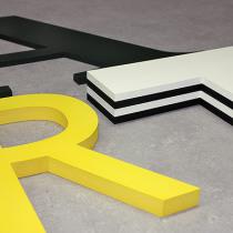 3D Buchstaben aus PVC-Hartschaum