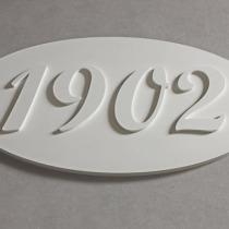 3D Ziffern Tafel  aus PVC-Hartschaum