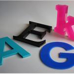 3D Buchstaben, Acrylglas, Plexiglas, Plexiglasbuchstaben, Plastikbuchstaben