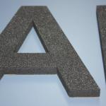 B3D-Studio: 3D Buchstaben, Weichschaum Buchstaben