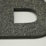 B3D-Studio: 3D Buchstabe aus speziell strukturiertem PE Schaum