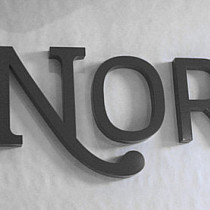 B3D Studio: 3D Buchstaben, Profilbuchstaben, Profil 01, Metallbuchstaben, Aluminium Buchstaben