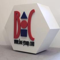 B3D-Studio, Display aus Styropor, 3D Buchstaben