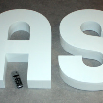 B3D-Studio, 3D Styrodurbuchstaben, 3D Logos, XPS Hartschaum Buchstaben, XXL Buchstaben