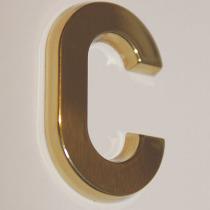 B3D-Studio: 3D Buchstaben, 3D Logo, Messingbuchstaben, Buchstaben