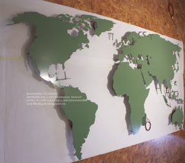 B3D-Studio: 3D Weltkarte, leuchtende Wandkarte, LED Weltkarte, 3D Europakarte, 3D regional Karte, Weltkarte aus Metall, Weltkarte aus Kunststoff, Weltkarte aus Metall oder Acrylglas, Wandkarte aus Plexiglas