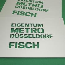 B3D-Studio: Stencil, Schablone, Metall Schablone, Kennzeichnungsschablone, Sprühschablone