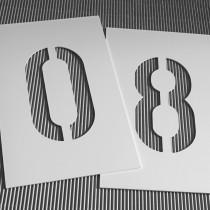 B3D-Studio: Stencil, Schablone, PVC Schablone, Kunststoff Schablone, Kennzeichnungsschablone, Sprühschablone