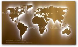 B3D-Studio: 3D Weltkarte, LED Weltkarten, leuchtende Weltkarte, 3D Europakarte