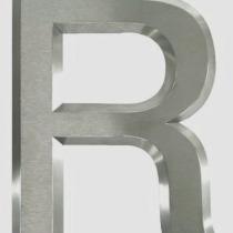 B3D-Studio: 3D Buchstaben, 3D Logos, Profilbuchstaben, Profil 01 Buchstabe mit 45° Phase, Edelstahl Buchstaben, Metallbuchstaben, Reliefbuchstaben, Premium Profilbuchstaben