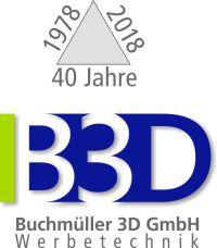 B3D-Studio, Buchmüller 3D GmbH, Solingen, Werbetechnik, Lichtwerbung, Schilder, LED Buchstaben, 3D Buchstaben, 3D Logos, Beschriftungen